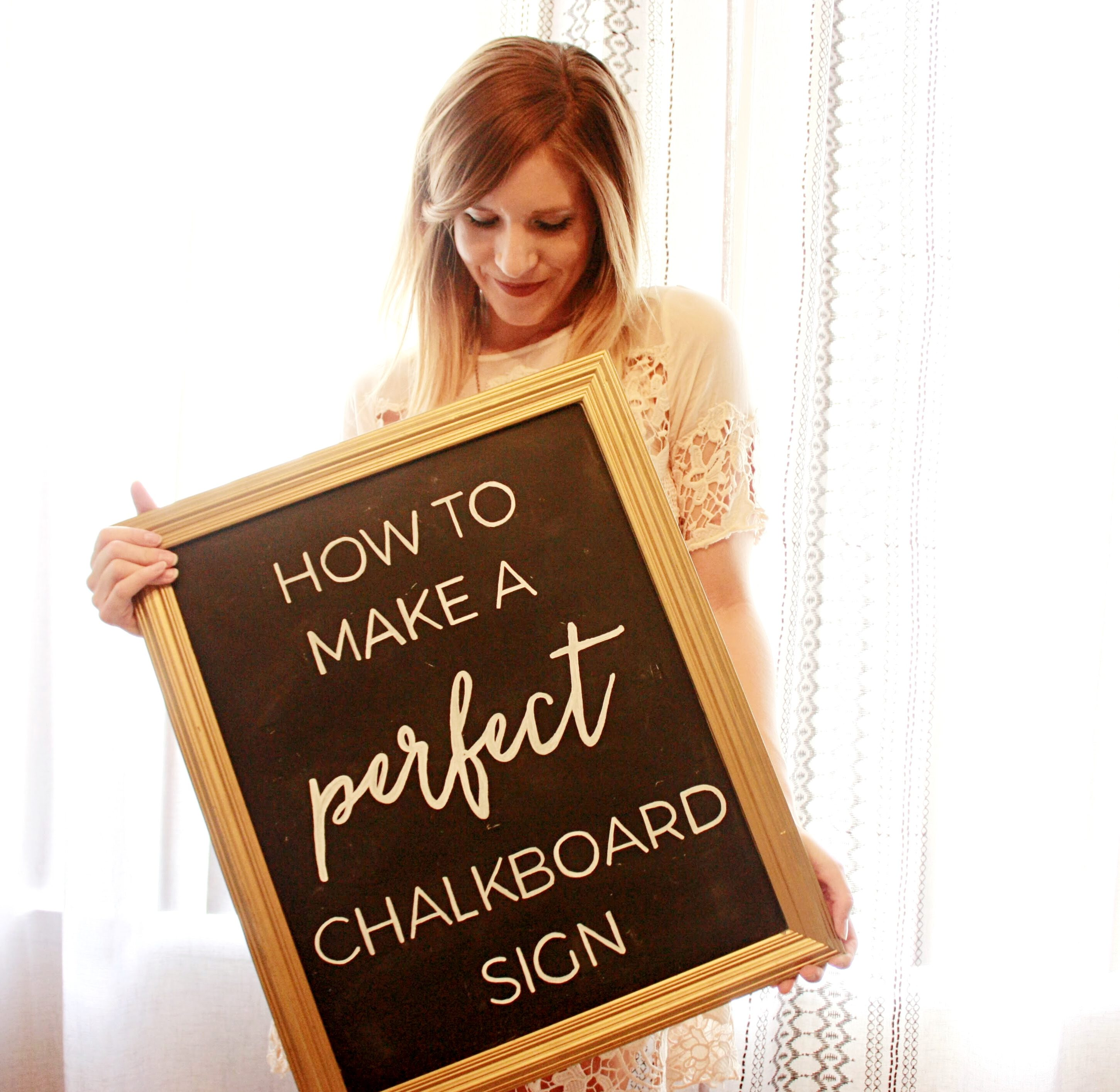 How to Make a Perfect Chalkboard Sign | That Newlywed Life