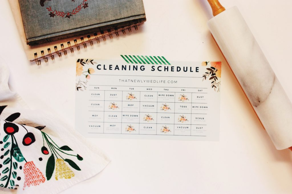 Cleaning Schedule - Free Download