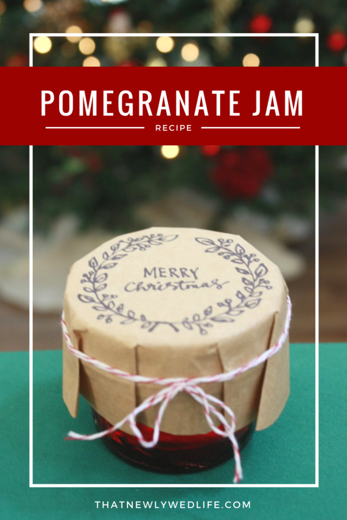 Pomegranate Jam Recipe - Christmas or holiday gifts